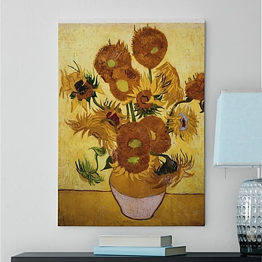 Red Barrel Studio 'Sunflowers' by Vincent Van Gogh Oil Painting Print on Wrapped Canvas
