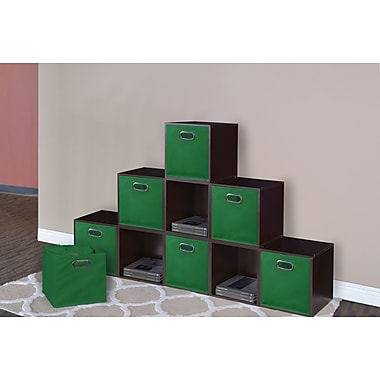 Rebrilliant Foldable Fabric Storage Tote (Set of 12); Green