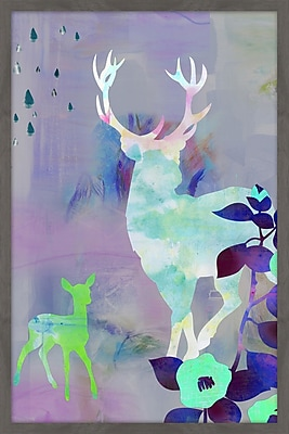East Urban Home 'Walking at Night' Framed Graphic Art Print; 18'' H x 12'' W