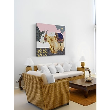 East Urban Home 'Celestial Bull' Graphic Art Print on Wrapped Canvas; 24'' H x 24'' W