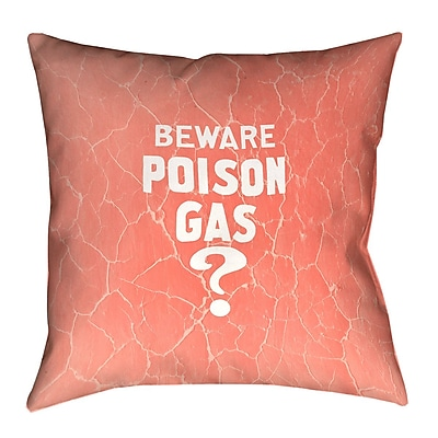 East Urban Home Vintage War Poison Gas Double Sided Print Euro Pillow