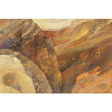 East Urban Home 'Canyon VII' Painting Print on Wrapped Canvas; 40'' H x 60'' W x 1.5'' D