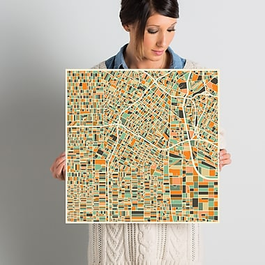 East Urban Home 'Abstract City Map of Los Angeles' Graphic Art on Wrapped Canvas