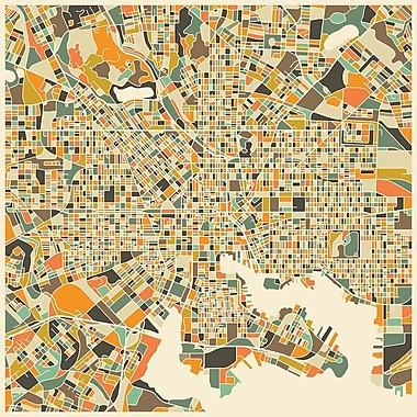 East Urban Home 'Abstract City Map of Baltimore' Graphic Art on Wrapped Canvas