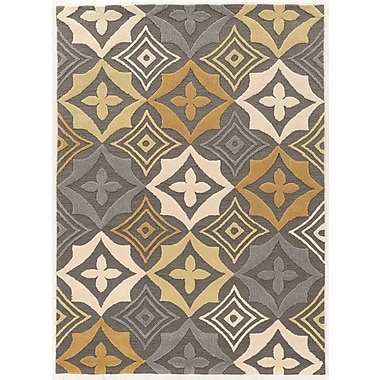Varick Gallery Cozine Contemporary Hand-Tufted Area Rug; 1'10'' x 2'10''