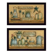 Country Welcome, Welcome to Our Farm House and Country Kitchen 2 Piece Framed Graphic Art Print Set