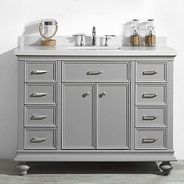 Alcott Hill Weisner 48'' Bathroom Vanity Set; Gray