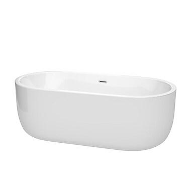 Wyndham Collection Juliette 67'' x 31.5'' Freestanding Soaking Bathtub; Chrome