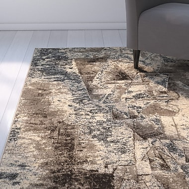 Williston Forge Milam Gray/Beige Area Rug; 8' x 10'3''