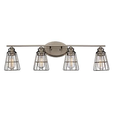 Williston Forge Jazlyn 4-Light Vanity Light; Brushed Nickel