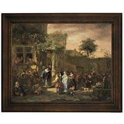 Astoria Grand 'The Village Wedding 1653' Framed Oil Painting Print on Canvas; 13.75'' H  x 16.75'' W