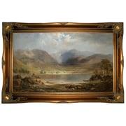 Astoria Grand 'Loch Long 1867' Framed Oil Painting Print on Canvas; Ornate Gold Frame
