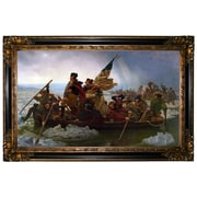 Astoria Grand 'Washington Crossing the Delaware' Framed Oil Painting Print on Canvas