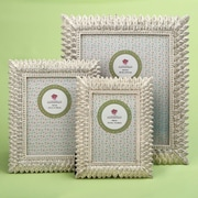 Bay Isle Home Thatcher 3 Piece Brushed Leaf Picture Frame Set; Ivory