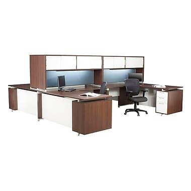 Brayden Studio Maverick Single Pedestal L-Shape Corner Desk; 30'' H x 71'' W x 71'' D