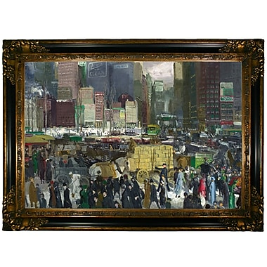 Darby Home Co 'New York 1911' Framed Oil Painting Print on Canvas; Gold/Black Frame