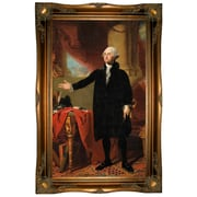 Darby Home Co 'George Washington Standing 1797' Framed Oil Painting Print on Canvas