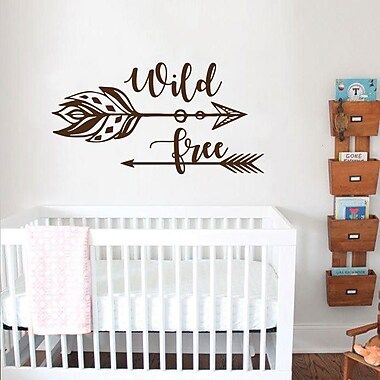 Decal House Wild and Free for Nursery Wall Decal; Ice Blue