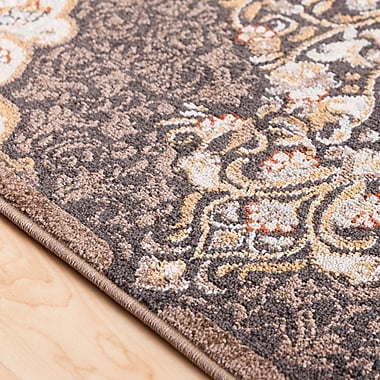 Charlton Home Lenora Classic Floral and Plants Camel Indoor/Outdoor Area Rug; 5'3'' x 7'3''