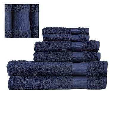 Darby Home Co Myles Luxury 6 Piece Towel set; Navy