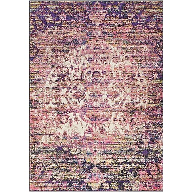 Bungalow Rose Walferdange Bright Pink Area Rug; 3'11'' x 5'7''