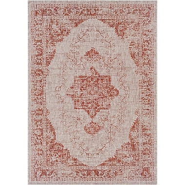 Bungalow Rose Fonwhary Burnt Orange Area Rug; 5'3'' x 7'6''