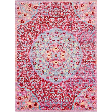 Bungalow Rose Lyngby-Taarb k Classic Red Area Rug; 5'3'' x 7'3''