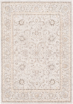 Bungalow Rose Jazzerus Floral and Plants Beige Area Rug; 7'10'' x 10'3''