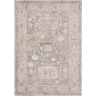 Bungalow Rose Jazzerus Charcoal Area Rug; 5'3'' x 7'3''