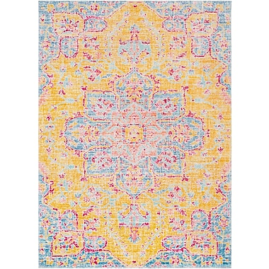 Bungalow Rose Lyngby-Taarb k Bright Yellow Area Rug; 3'11'' x 5'11''