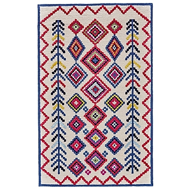 Bungalow Rose N stved Hand Tufted Ivory/Multi Area Rug; 5' x 8'