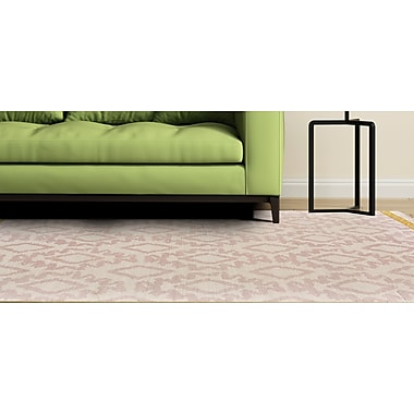 Bungalow Rose Kopstal Hand Woven Blush/Yellow Area Rug; 5' x 8'