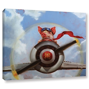 Harriet Bee 'When Pigs Fly' Painting Print on Wrapped Canvas; 14'' H x 18'' W x 2'' D
