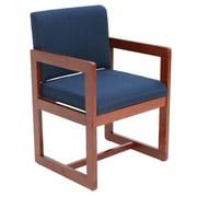 Ebern Designs Elianna Sled Base Side Chair; Cherry/Blue