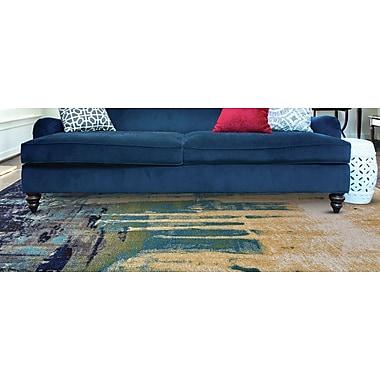 Ebern Designs Elizabethtown Green/Blue Area Rug; 8' X 11'