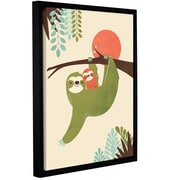 Harriet Bee 'Mama Sloth' Framed Graphic Art Print on Canvas; 24'' H x 18'' W x 2'' D