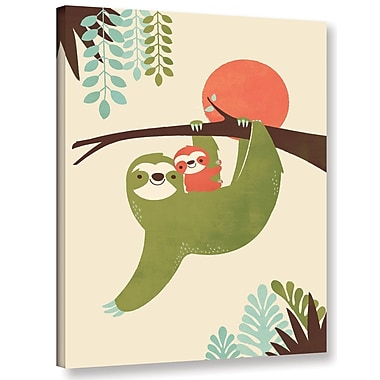 Harriet Bee 'Mama Sloth' Graphic Art Print on Canvas; 24'' H x 18'' W x 2'' D