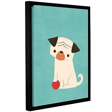 Harriet Bee 'My Red Ball' Framed Graphic Art Print on Canvas; 24'' H x 18'' W x 2'' D