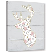 Harriet Bee 'Floral Deer II' Graphic Art Print on Canvas; 48'' H x 36'' W x 2'' D