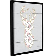 Harriet Bee 'Floral Deer I' Framed Graphic Art Print on Canvas; 32'' H x 24'' W x 2'' D