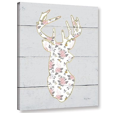 Harriet Bee 'Floral Deer I' Graphic Art Print on Canvas; 18'' H x 14'' W x 2'' D