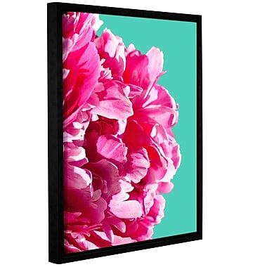 Harriet Bee 'Pink Peony' Framed Photographic Print on Canvas; 18'' H x 14'' W x 2'' D
