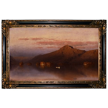 Loon Peak 'Whiteface Mountain from Lake Placid 1866' Framed Oil Painting Print on Canvas