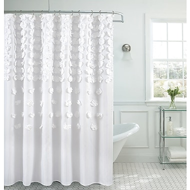Latitude Run Hornyak Shower Curtain; White