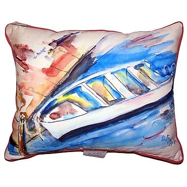 Highland Dunes Christin Rowboat at Dock Indoor/Outdoor Lumbar Pillow; 20'' x 24''