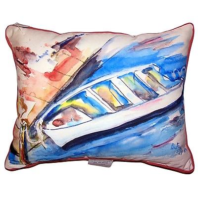 Highland Dunes Christin Rowboat at Dock Indoor/Outdoor Lumbar Pillow; 16'' x 20''