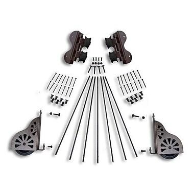 Quiet Glide Swivel Rolling Ladder Hardware Kit; Hammered Antique Brass
