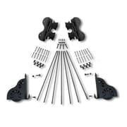 Quiet Glide Braking Swivel Rolling Ladder Hardware Kit; Black