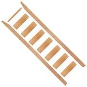 Quiet Glide 96'' Wood Rolling Ladder; Red Oak