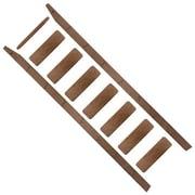 Quiet Glide 96'' Wood Rolling Ladder; Walnut
